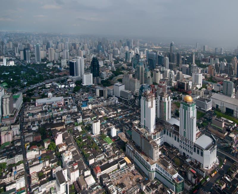 Nowożytny Bangkok - widok z lotu ptaka zdjęcie royalty free