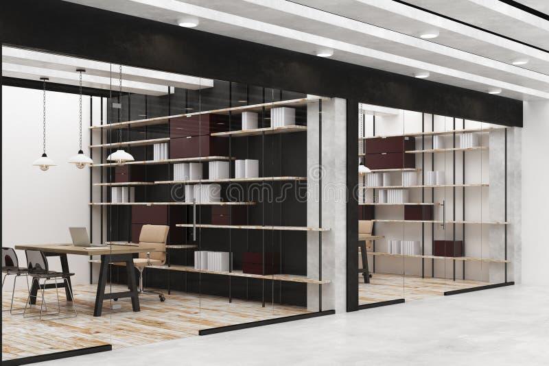 Nowożytny biuro lub biblioteka ilustracji