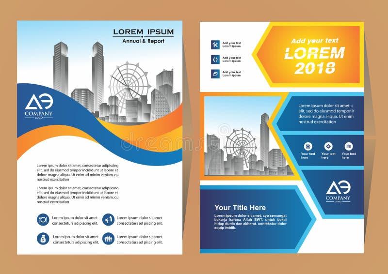 Nowożytny biznes pokrywy broszurki układ z kształta wektoru ilustracją royalty ilustracja