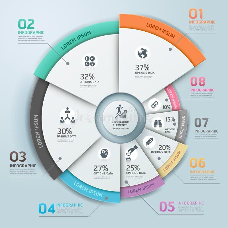 Nowożytny biznesowy Infographics okrąg. ilustracji