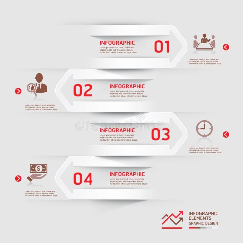 Nowożytny biznesowy infographics strzała tło. ilustracji