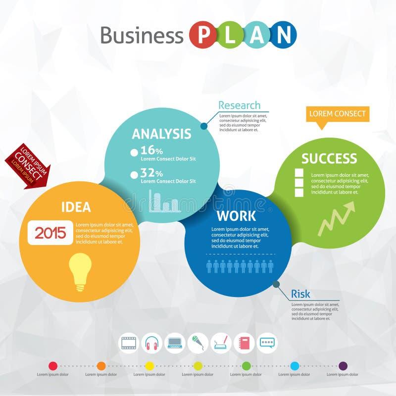 Nowożytny biznesowy okrąg ilustracja wektor
