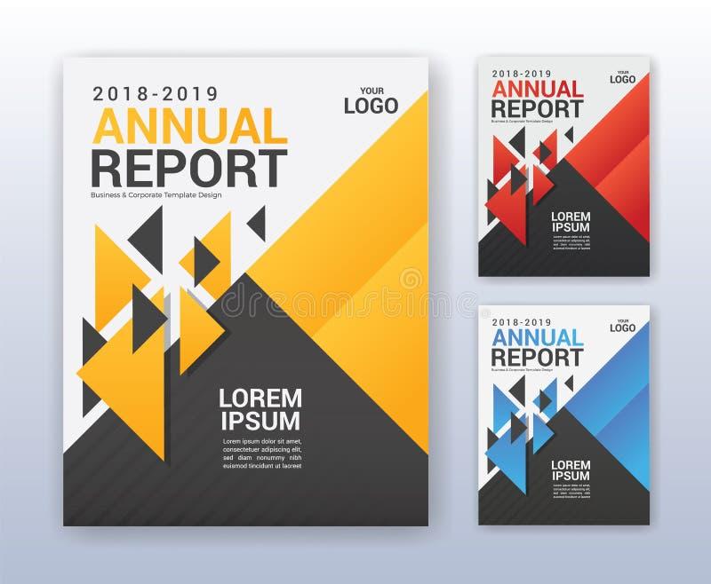 Nowożytny biznesowy sprawozdanie roczne szablon Wielocelowy flyter plecy royalty ilustracja