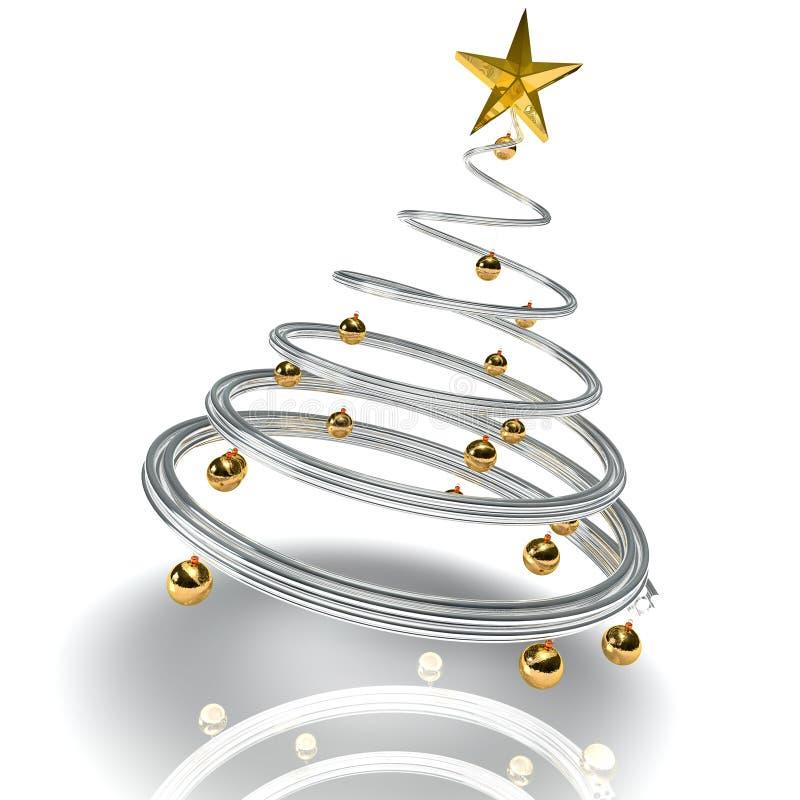 nowożytny Bożego Narodzenia drzewo royalty ilustracja
