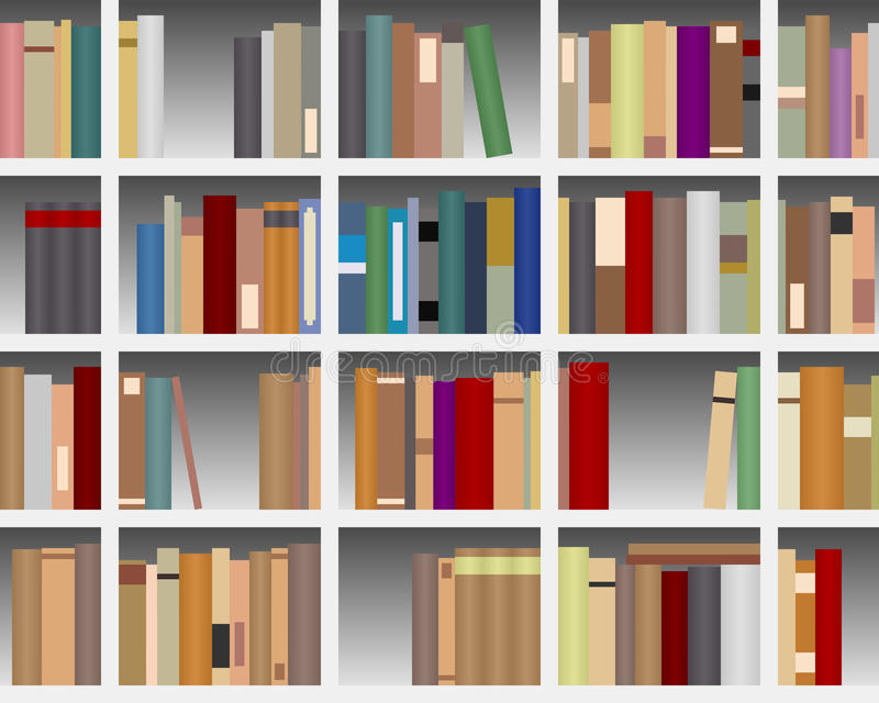 nowożytny bookcase biel royalty ilustracja