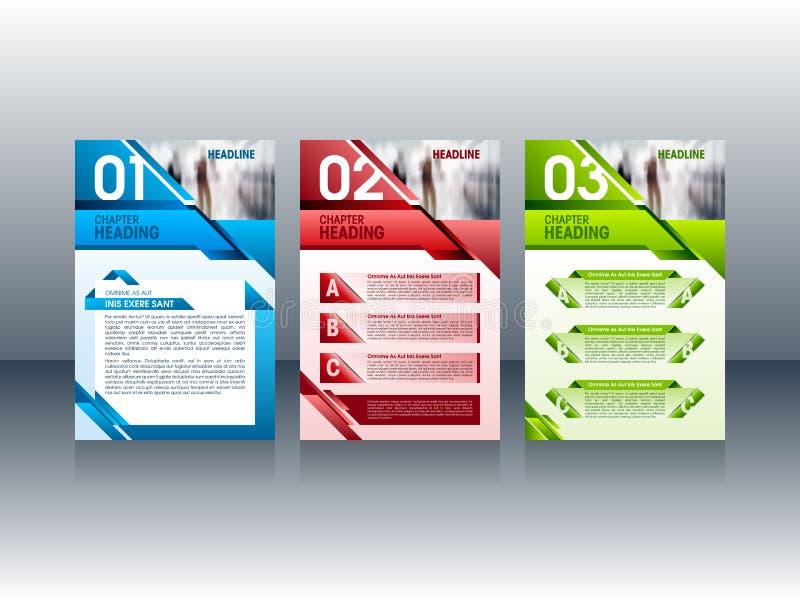 Nowożytny broszurka projekt, ulotki ulotki układu szablony również zwrócić corel ilustracji wektora ilustracja wektor