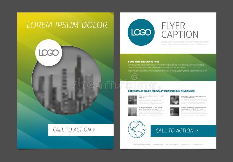 Nowożytny broszurka szablonu ulotki projekta wektoru szablon ilustracji