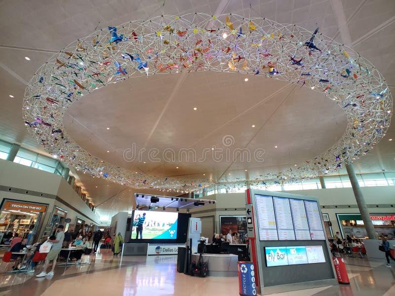 Nowożytny buduje Dallas miłości Śródpolny lotnisko TX obraz royalty free