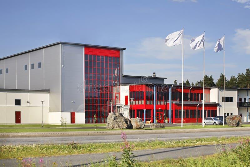 Nowożytny budynek w Kokkola Finlandia zdjęcie royalty free