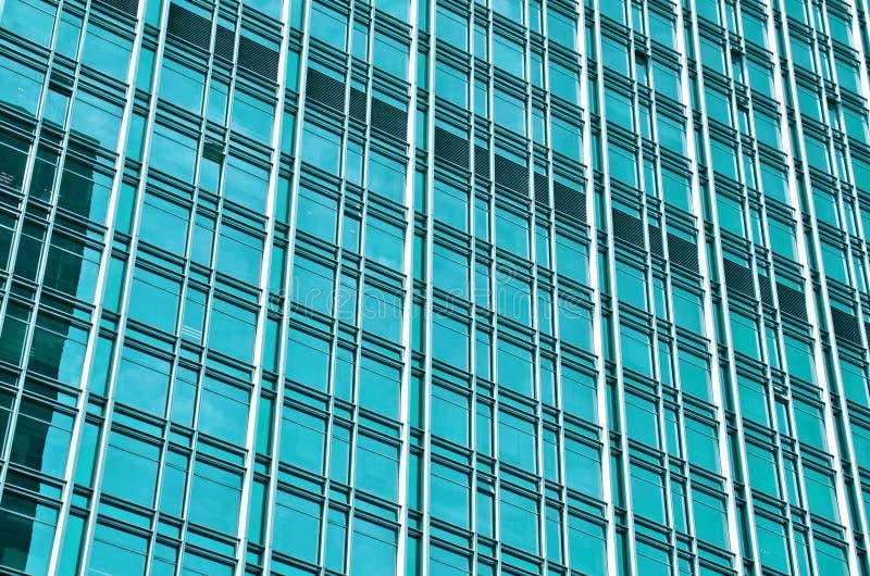 Nowożytny budynek z błękitnym szkłem obraz royalty free