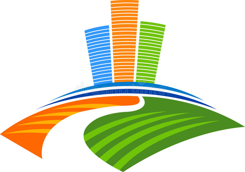 nowożytny budynku logo ilustracja wektor