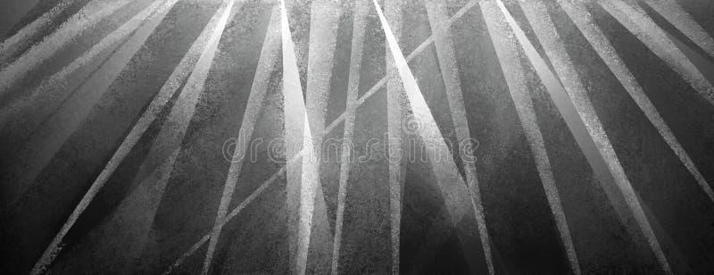 Nowożytny czarny tło z zakłopotani trójboki i lampasy biali i szarość ilustracji