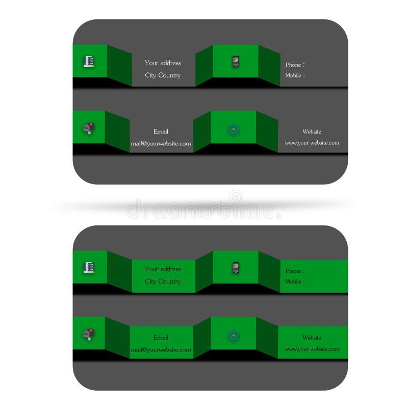 Nowożytny, 2 3d stylowej wizytówka, pomaga twój firmy, twój enterp ilustracji