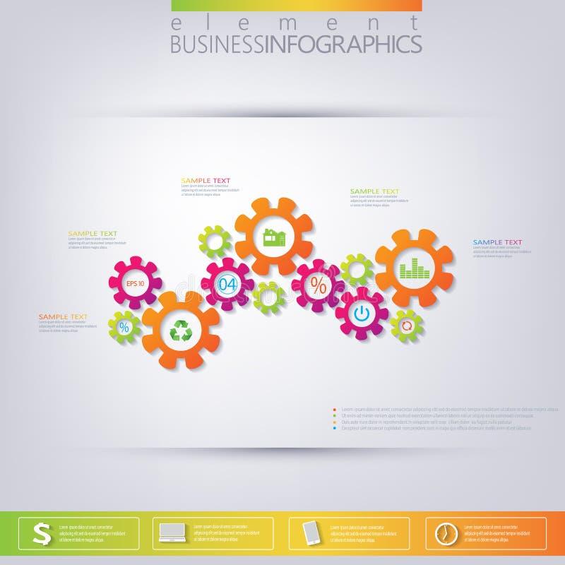 Nowożytny 3D szablon infographic Może używać dla obieg układu, diagram, mapa, numerowe opcje, sieć projekt ilustracja wektor