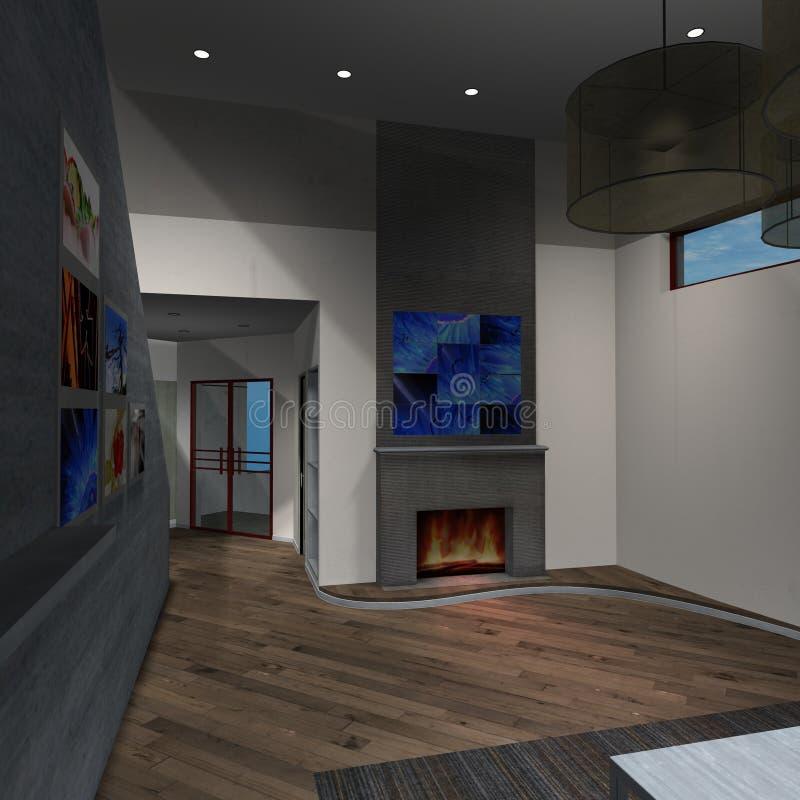 nowożytny domowy pokój dzienny ilustracja wektor