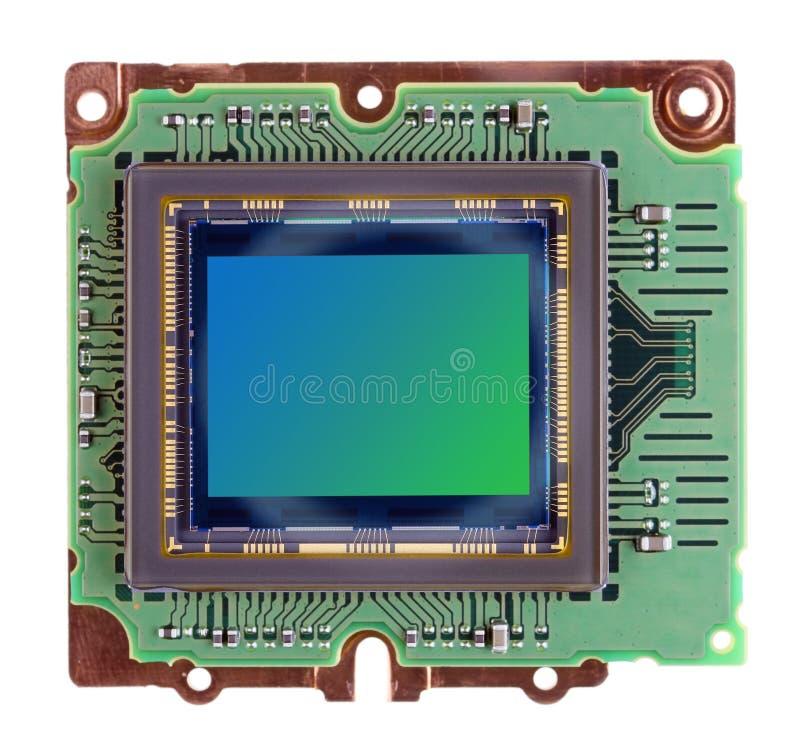 Nowożytny duży RGB wizerunku czujnik od cyfrowej fotografii kamery ustanawia obraz royalty free