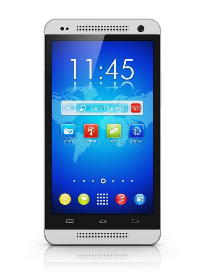 Nowożytny ekranu sensorowego smartphone ilustracja wektor