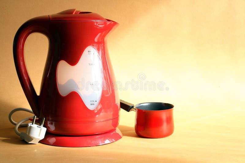 nowożytny elektryczny czajnik fotografia stock