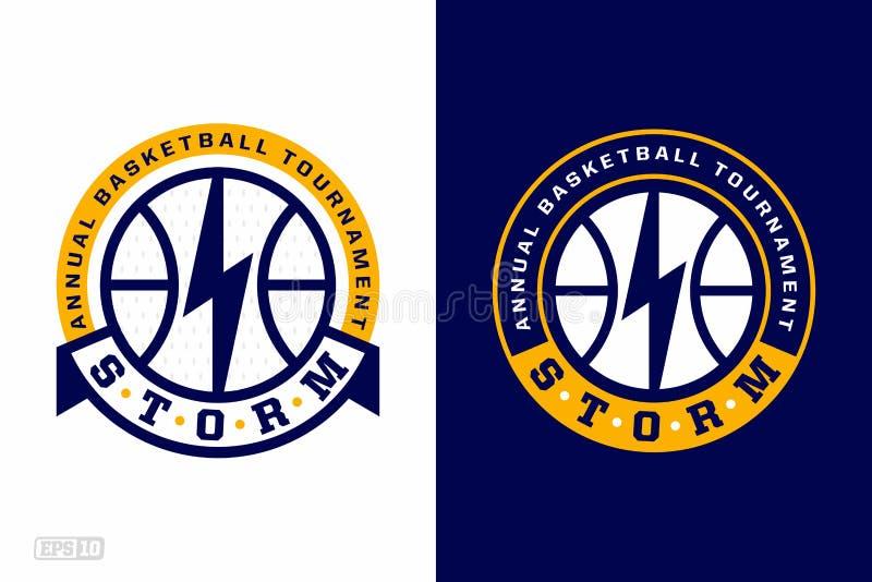 Nowożytny fachowej koszykówki logo ustawiający dla sport drużyny ilustracji
