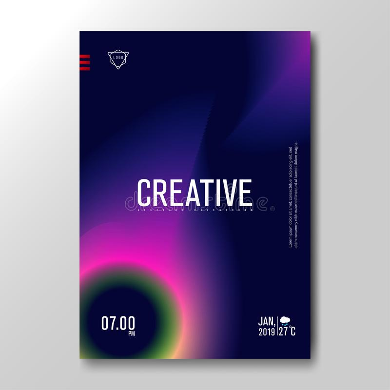 Nowożytny fluid Zamazywał gradient z miękkim kolorowym tłem dla plakata, zaproszenie karta, broszurka, reklama, plakat, muzyka ilustracja wektor