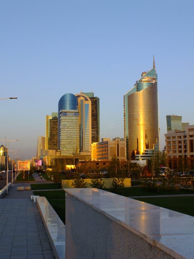 Nowożytny góruje w Astana, Kazachstan/ zdjęcie royalty free