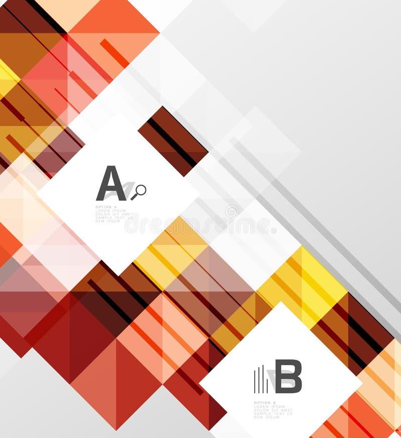 Nowożytny geometrical abstrakcjonistyczny tło, kwadraty ilustracja wektor