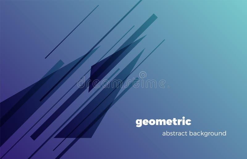 Nowożytny geometryczny abstrakcjonistyczny tło, minimalistic projekt, kreatywnie pojęcie r?wnie? zwr?ci? corel ilustracji wektora ilustracji