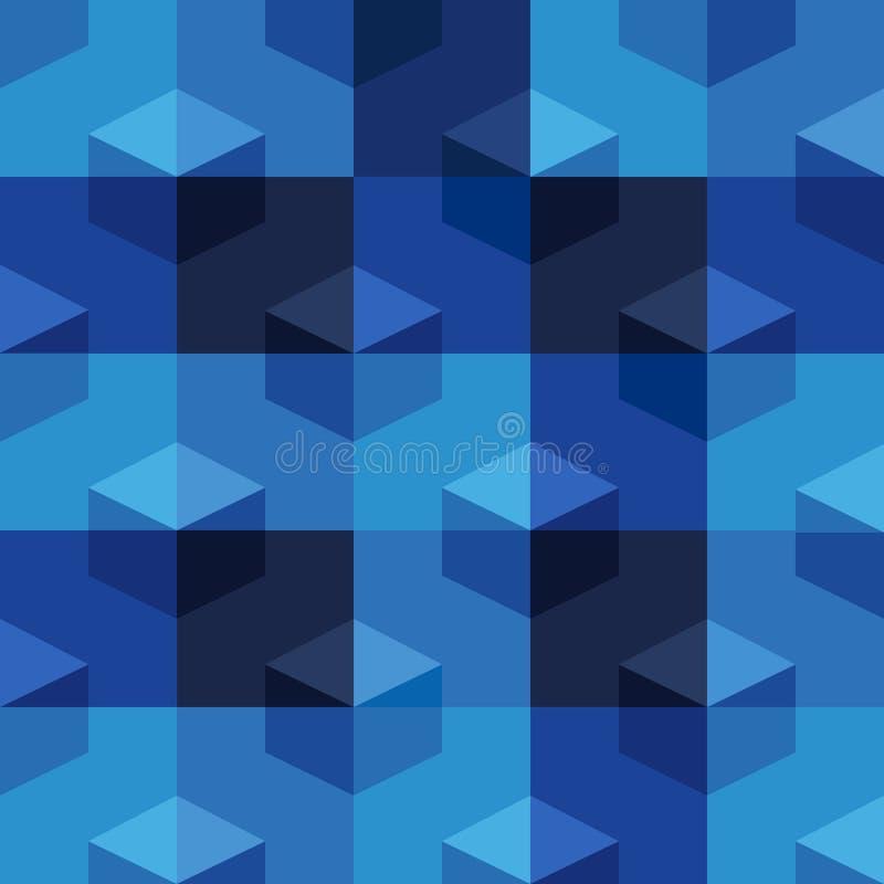 Nowożytny Geometryczny Bezszwowy Deseniowy projekt dla tapety ilustracja wektor