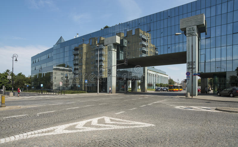 Nowożytny gmach sądu Warsaw Poland Europe fotografia royalty free