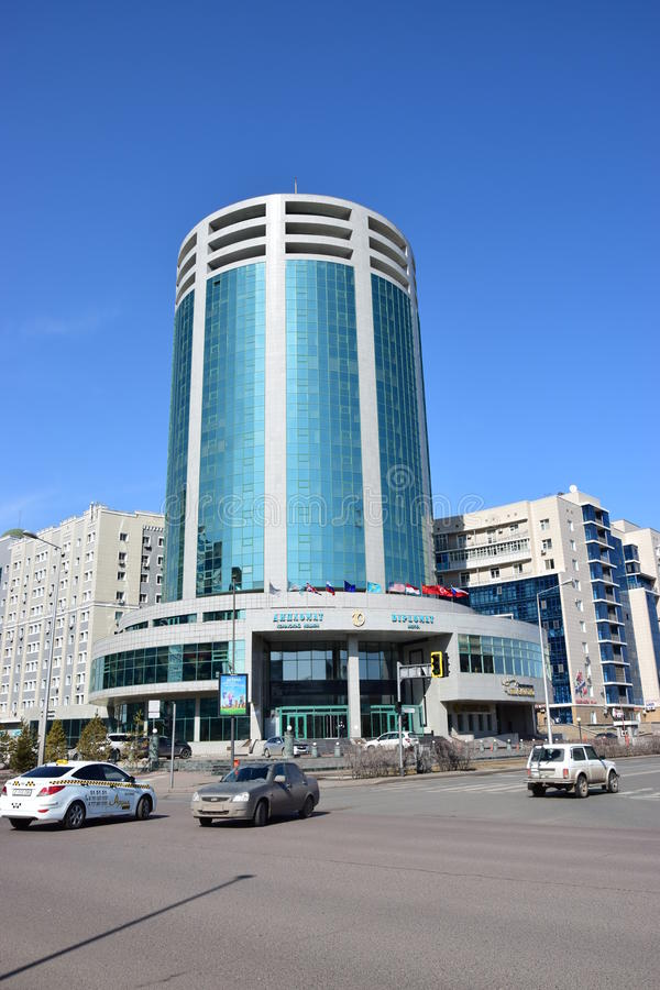 Nowożytny hotel nazwany DYPLOMATA w Astana obraz royalty free