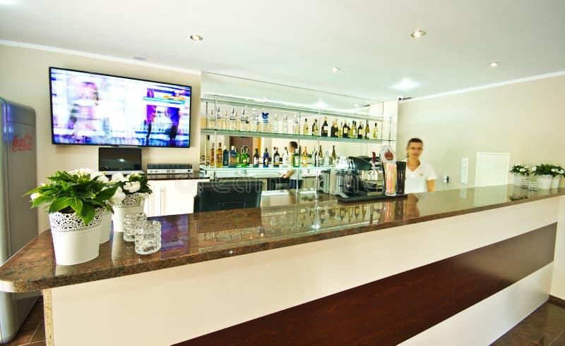 Nowożytny hotelowy bar w Polska obrazy royalty free