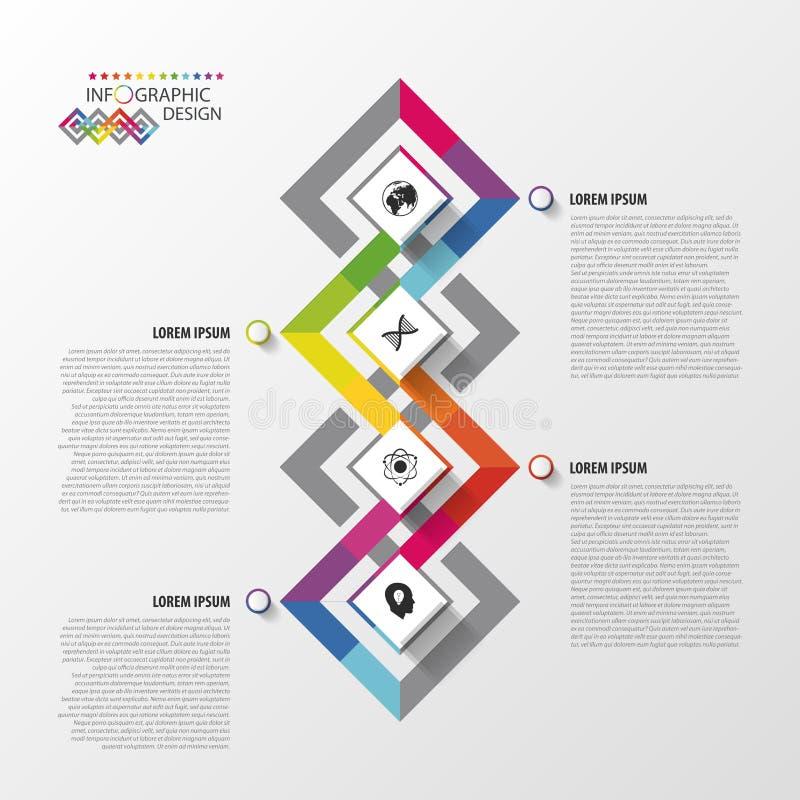 Nowożytny infographic opcja projekt abstrakcjonistyczny kolorowy szablon również zwrócić corel ilustracji wektora royalty ilustracja