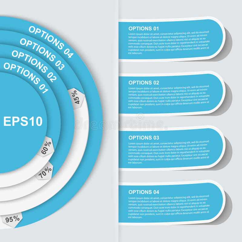 Nowożytny infographic. Projektów elementy ilustracja wektor