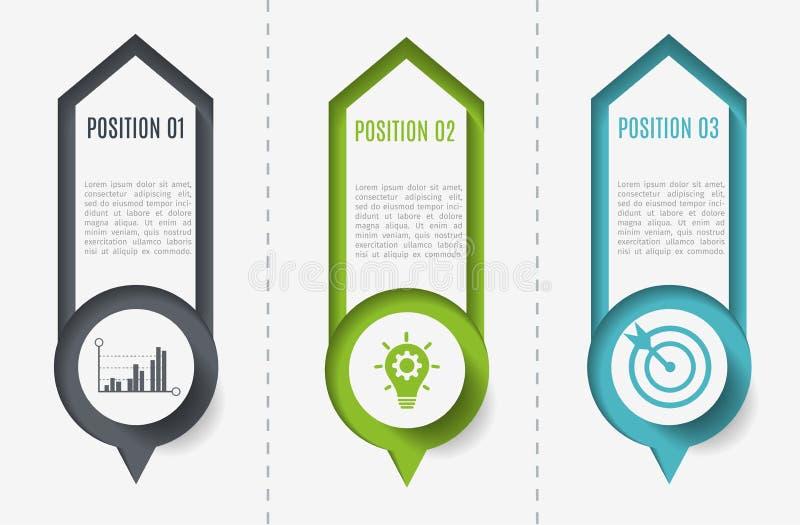 Nowożytny infographic projekt Szablon dla diagrama, wykres, prezentacja również zwrócić corel ilustracji wektora ilustracja wektor