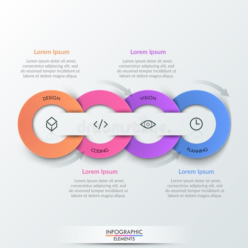Nowożytny infographic projekta szablon ilustracja wektor