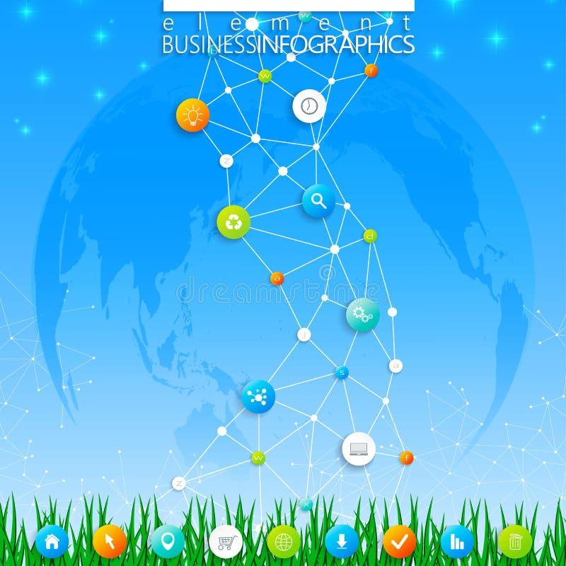 Nowożytny infographic szablonu dna Może używać w obieg układzie, diagram, mapa, numerowe opcje, sieć projekt wektor ilustracji
