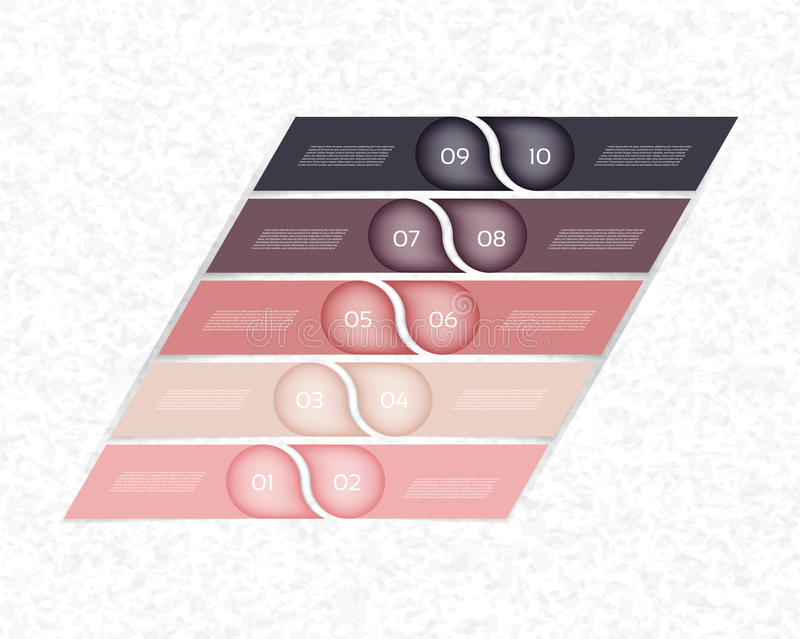 Nowożytny infographics opcj sztandar również zwrócić corel ilustracji wektora może używać dla obieg układu, diagram, numerowe opc ilustracja wektor