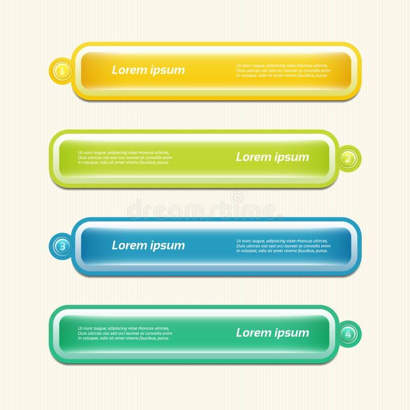 Nowożytny infographics opcj sztandar. Wektorowa ilustracja. może używać dla obieg układu, diagram, numerowe opcje, sieć projekt, p ilustracja wektor