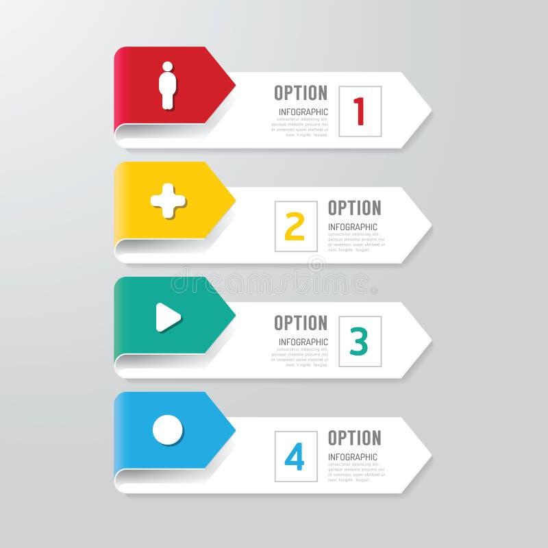 Nowożytny infographics projekta opcj sztandar również zwrócić corel ilustracji wektora ilustracja wektor