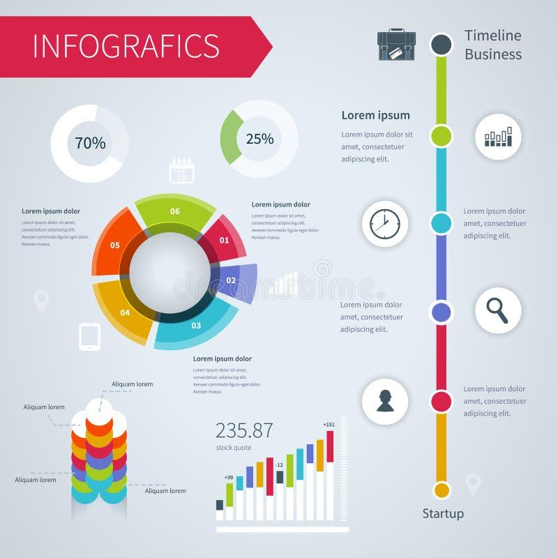 Nowożytny infographics set ilustracja wektor