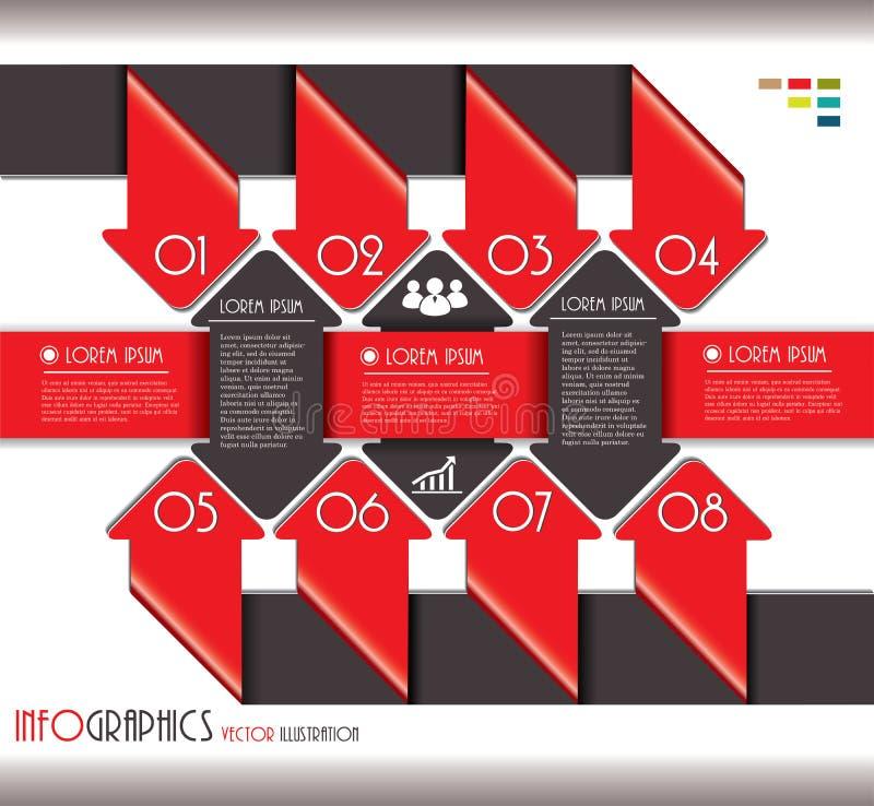 Nowożytny Infographics szablon dla biznesowego projekta z liczbami. royalty ilustracja