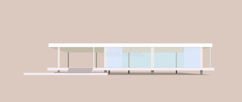 Nowożytny intymny dom, wektor royalty ilustracja