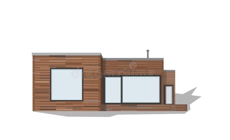 Nowożytny intymny dom, wektor ilustracji