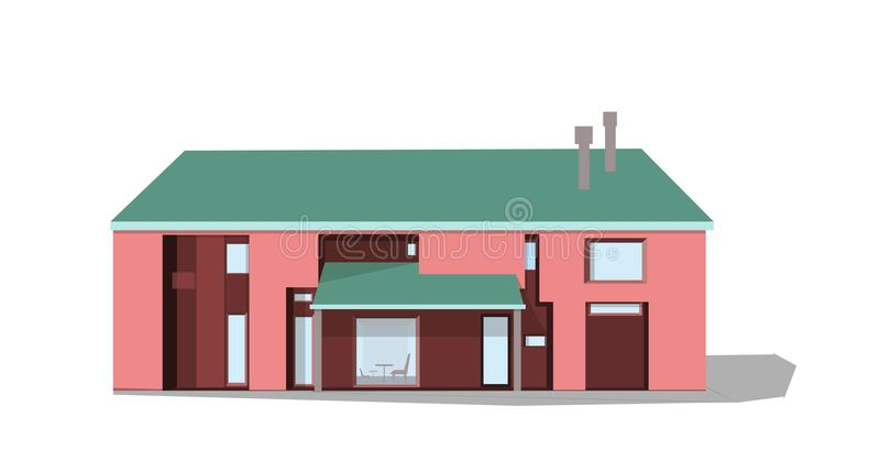 Nowożytny intymny dom, wektor ilustracja wektor