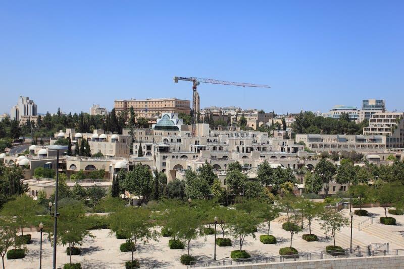 Nowożytny Jerozolima i królewiątka David hotel obraz royalty free