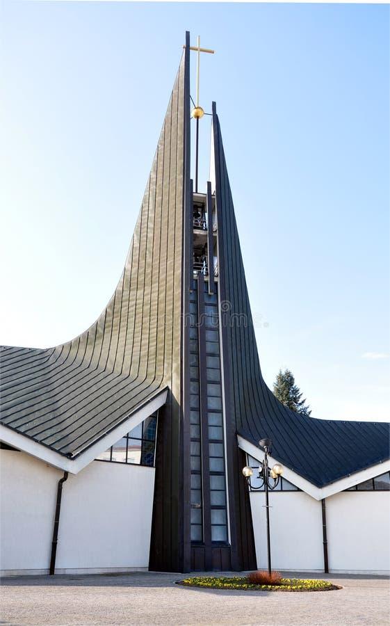 Nowożytny kościół, Breclav, republika czech, Europa zdjęcie stock