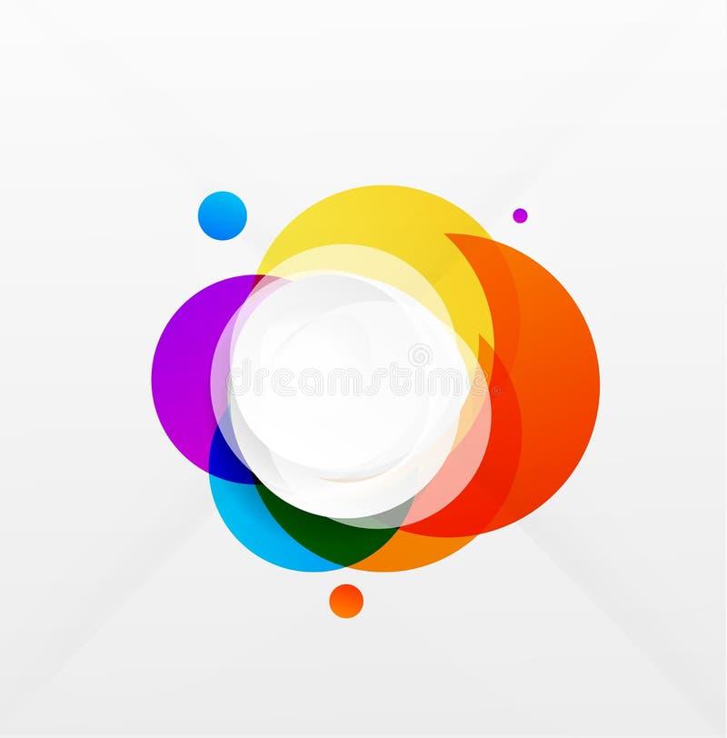 Nowożytny kolorowy geometrical okręgu projekt ilustracja wektor