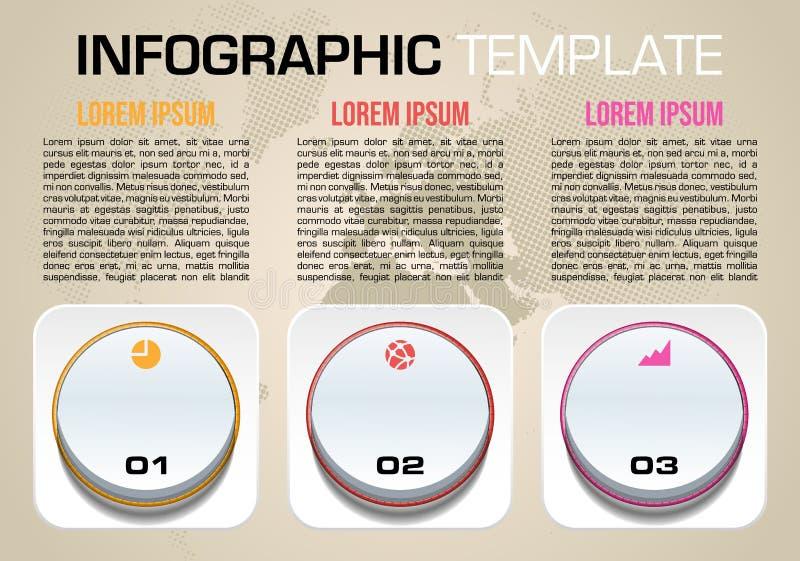 Nowożytny kolorowy infographics opcj szablonu wektor z zmianą ilustracji