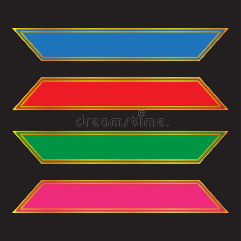 Nowożytny kolorowy sieć sztandaru projekt, kolorowy etykietka projekt royalty ilustracja
