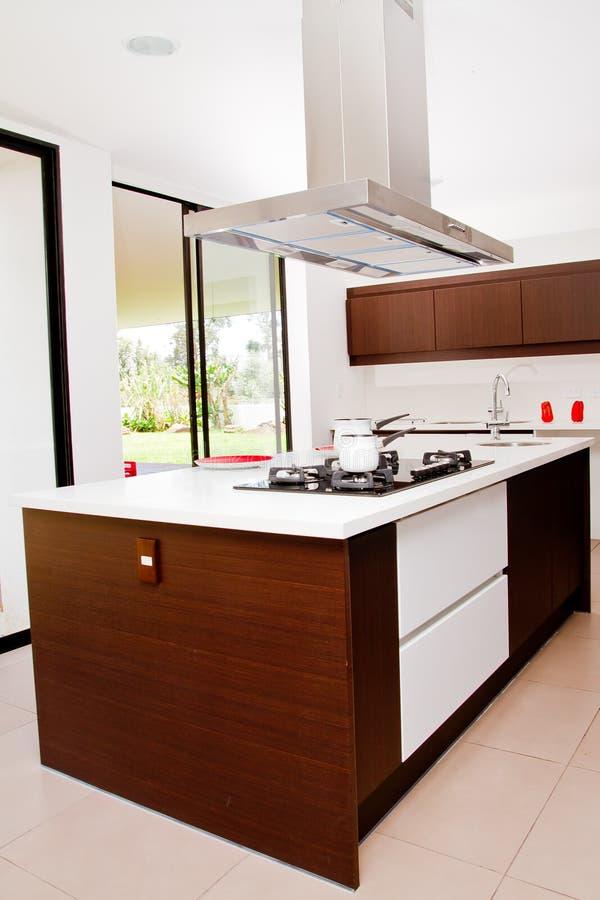 Nowożytny kuchenny wnętrze fotografia stock